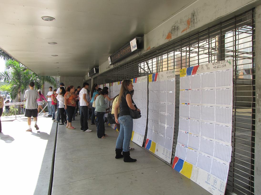 Elecciones en Medellin, Colombia.