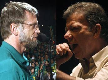 El Candidato Atanas Mockus y Juan M. Santos.