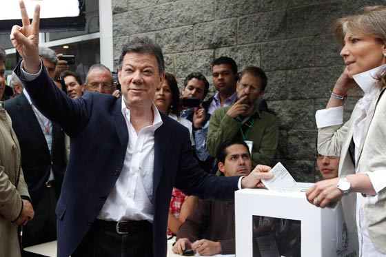 Juan Manuel Santos nuevo Presidente Electo de Colombia, 2010.